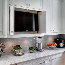 Oak Park Kitchen U0026 Powder Room   Traditional   Kitchen   Chicago   By TZS  Design   White Moon Quartzite Counter