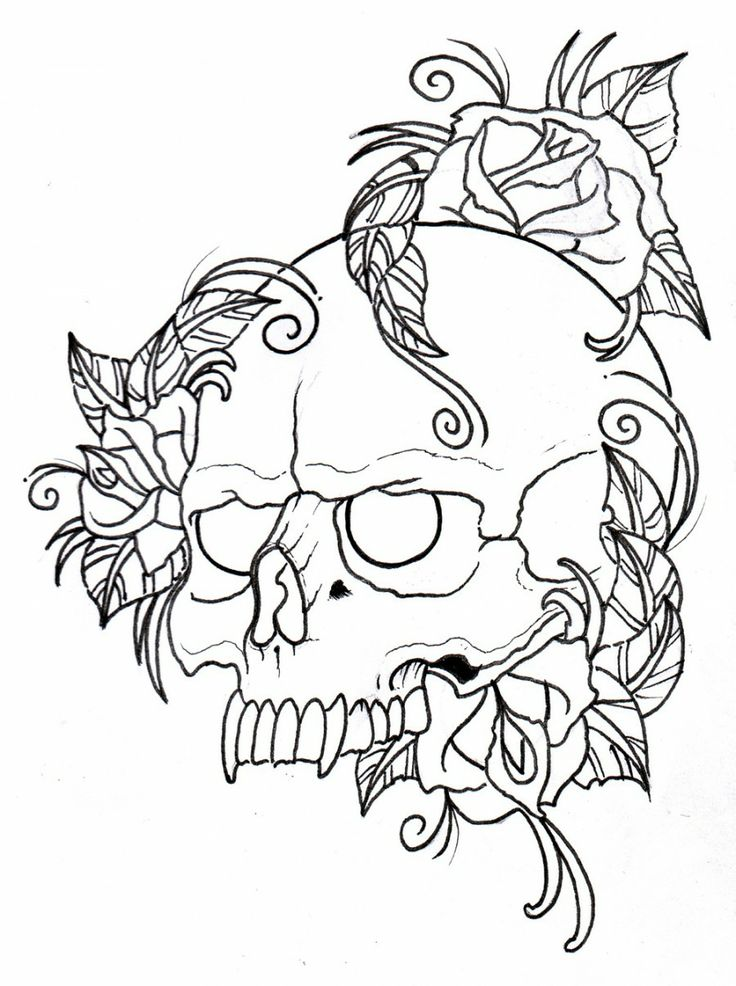 Tattoos Designs For Men Rose Tattoos For Men Half Sleeve Skulls And Roses Coloring Pages