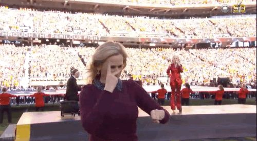 -More about Marlee Matlin's sign-singing It was learned that while Marlee was not shown on the main CBS Super Bowl program, she was shown only on the XBox & Windows 10 systems. Many of us didn't know about it. The Big 3 (NFL, PepsiCo & CBS) did not want eyes away from Lady Gaga. They are saying we are 2nd-class citizens. If you remember history, it was CBS that opposed closed captions during the 1980's.