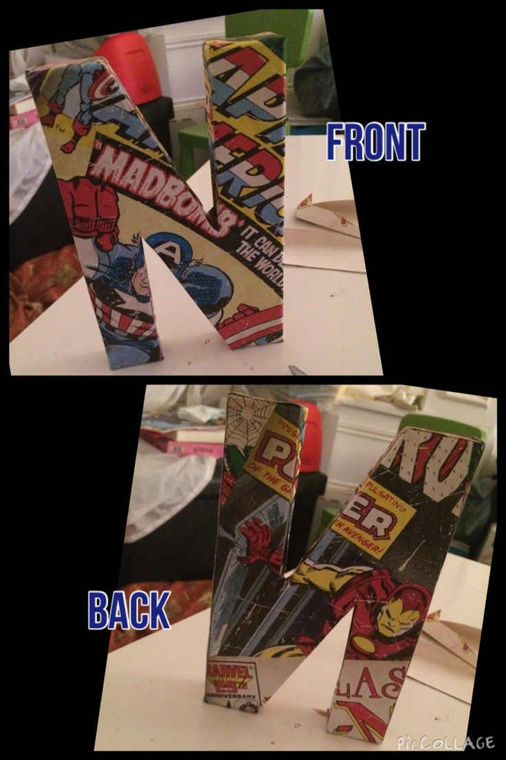 Marvel 'N' for my sons bedroom door stuck some double sided mount tape on the back to attach it to the door
