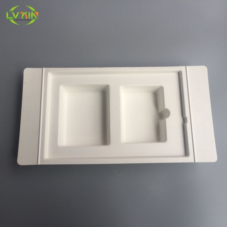 Custom white portable power source wet press electronic paper packaging tray