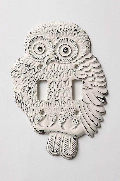 Owl double switchplate.