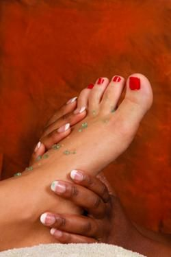 How to EXFOLIATE YOUR FEET: Before you slip into those costly, celebrity-worthy Jimmy Choo or Christian Louboutin heels, you may want to do something about the dry, cracked heels you've long suffered from.   | http://skincare.lovetoknow.com/How_to_Exfoliate_Feet