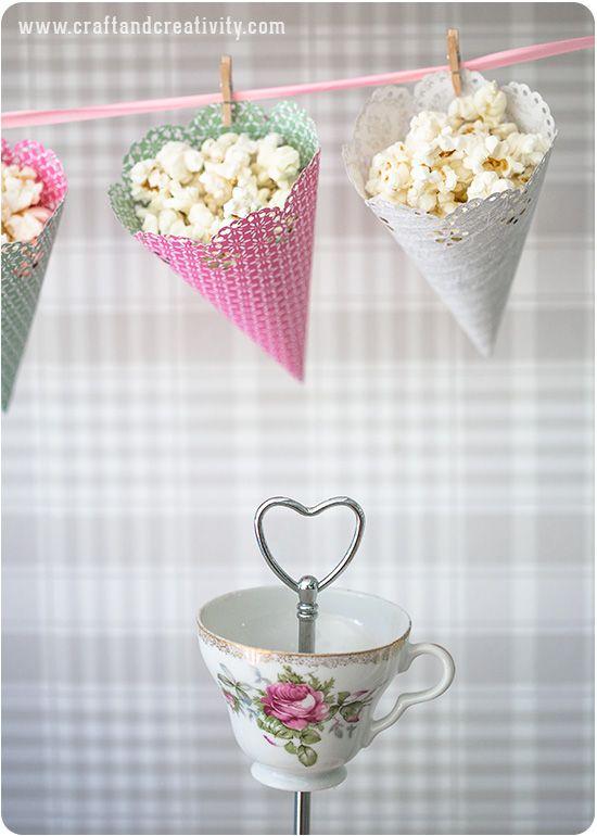 Gör egna popcornstrutar – DIY Popcorn cones | Craft & Creativity – Pyssel & DIY