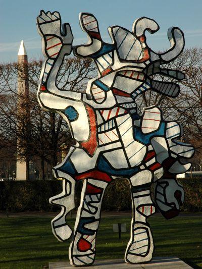 Jardin des Tuileries.  Le Bel Costumé. Jean Dubuffet. 1978.