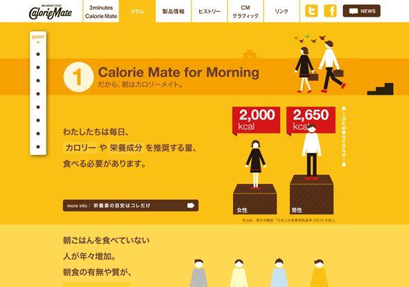 ウェブデザイナーがインフォグラフィック制作の担い手に。カロリーメイト公式サイト紹介 | ビジュアルシンキング
