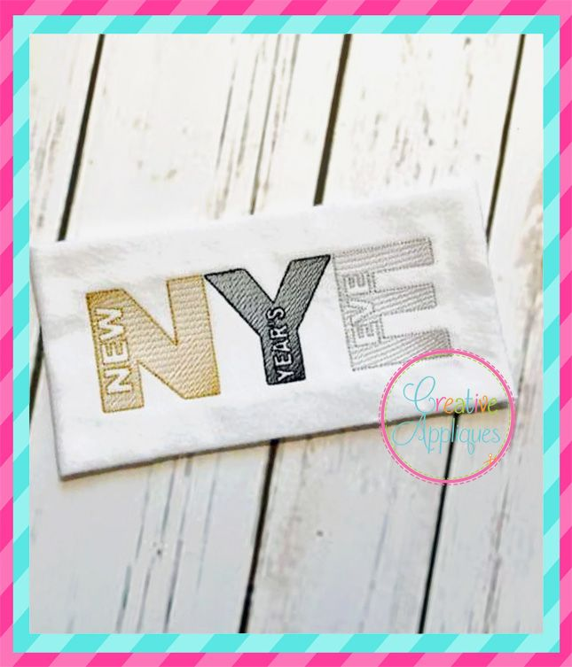 Sketch New Year S Eve Embroidery Creative Appliques Applique Embroidery Designs Machine Embroidery Designs Machine Applique