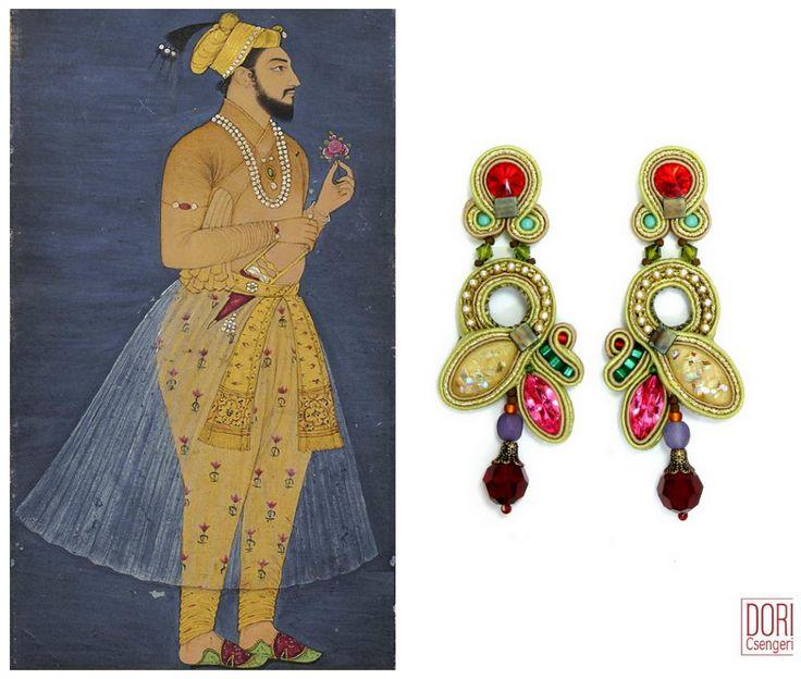 Maharajah earrings...when fashion meets Indian art.... #DoriCsengeri #indianart #fashion #accessories #earrings #gemcolors #jeweltones