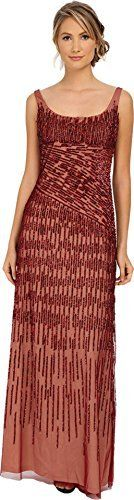 Adrianna Papell Women's Spiral #Beaded #Mermaid #Gown Full review at: http://toptenmusthave.com/best-formal-dresses/