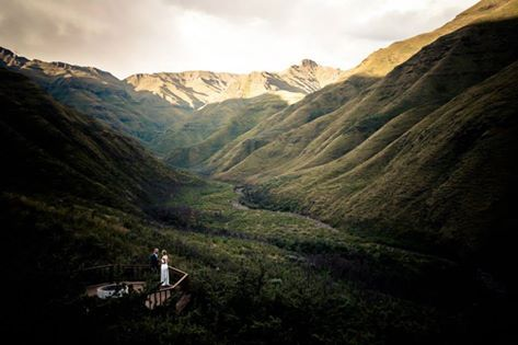 The magnificent view from Maliba Lodge, Lesotho.
