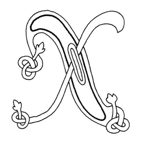 7 best X images on Pinterest Lettering, Calligraphy and Celtic - best of medieval alphabet coloring pages