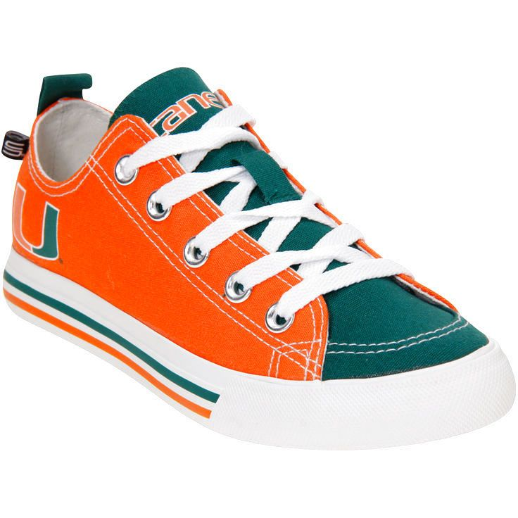 Miami Hurricanes SKICKS Women's Low Top Sneakers - $47.99