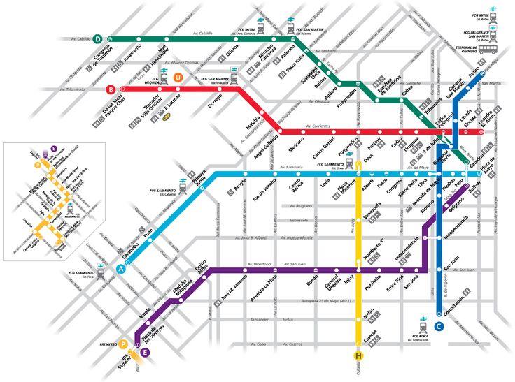 Metro de Buenos Aires (Subte) - Líneas, horarios, precios y mapa