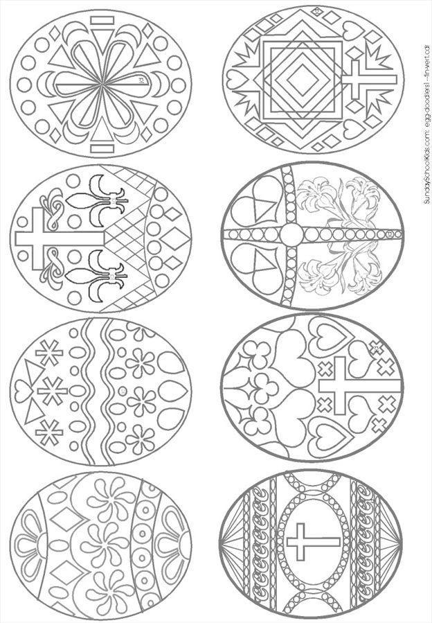 Пасхальные трафареты. Идеи для росписи пасхальных яиц.