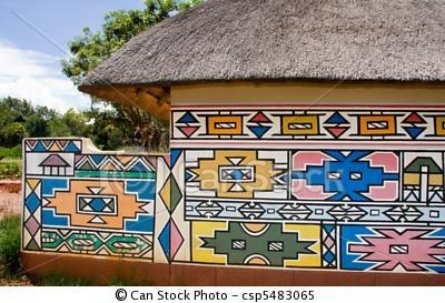 ville Ndébélés Afrique du Sud