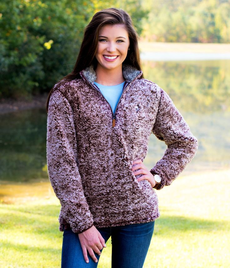 SIZE SMALL COLOR SASSAFRAS OR WALNUT Heathered Sherpa 1/4 Zip