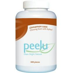 Dairy Gluten Free Vegan Peelu Chewing Gum Cinnamon Sass 300 Count              Enjoy Peelu Chewing Gum – Cinnamon Sass – 300 Count every day at these amazing prices! Chew a piece of Cinnamon Sass Gum for a naturally great-tasting chewing gum that is actually good for your gums and teeth thanks to xylitol. Xylitol has become a popular ingredient in oral care products, because unlike sugar, it doesn't cause tooth decay. The natural peelu fibers also provide for good oral health, as they help…