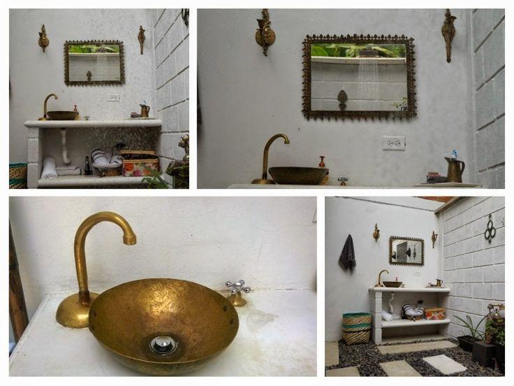 Baño al aire libre en una casa rural | Decorar tu casa es facilisimo.com