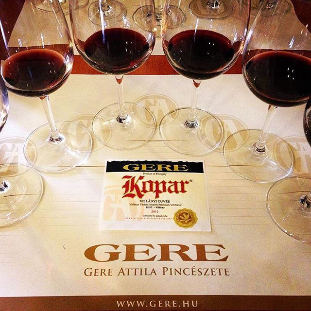 #kopar vertical #winetasting || #gereattila #wineglasscommunication #wine_pr #presstour #wine