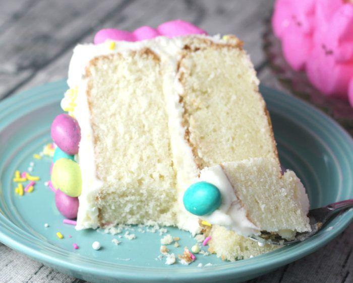 The Baking ChocolaTess | Super-Moist Vanilla Cake with Vanilla Buttercream Frosting | http://www.thebakingchocolatess.com