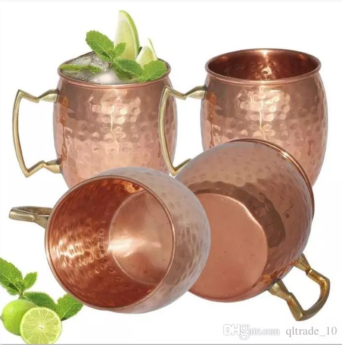 2017 Hammered Moscow Mule Cups Copper Plateing Stainless Steel Mug Brass Handle Hammered Moscow Mule Mug With Solid Brass Handle Ooa1071 From Qltrade_10, $5.82 | Dhgate.Com