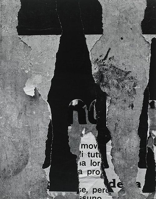 Aaron Siskind /   Rome 55,   Gelatin silver print,   1963