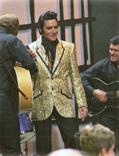 1968 ELVIS NBC TV Special - A scene with Charlie Hodge and Lance LeGault (Elvis' stunt double)