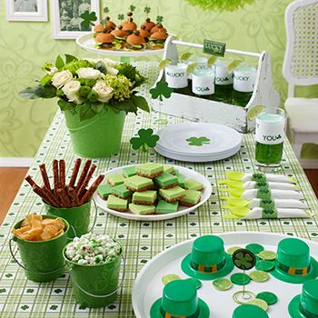 Green is the color of spring-and of the holiday when everyone is Irish for a day! This St. Patrick's Day (March 17), invite friends over to raise a glass o