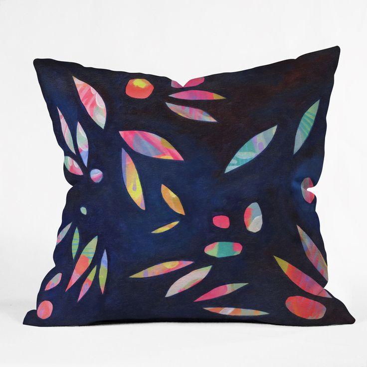 Stephanie Corfee Rainbow Leaves Throw Pillow | DENY Designs Home Accessories