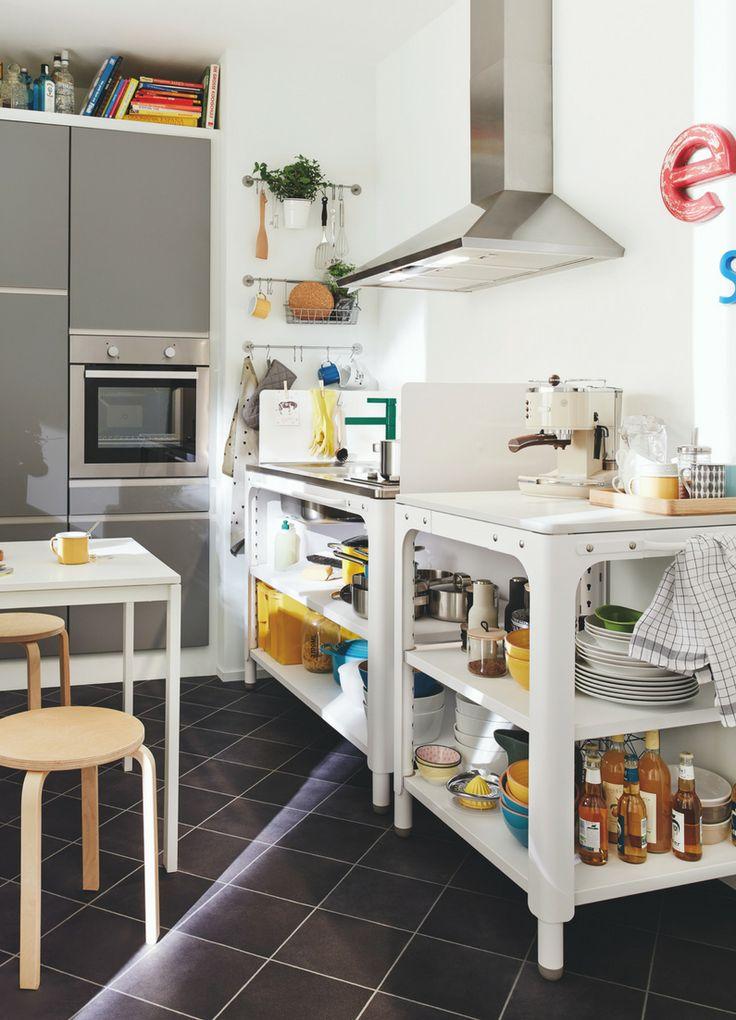 Griffe Küche Edelstahl Ikea | Metod Wandeckschrank Mit ...