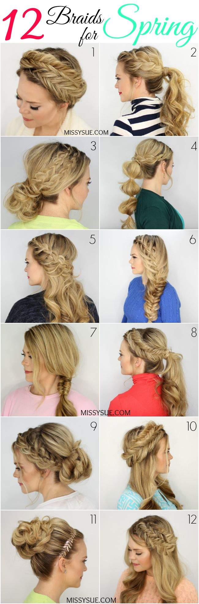 12 Braids for Spring
