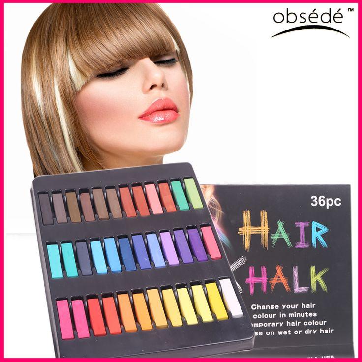 Giz Pastel 36 cores tintura de cabelo temporária cabelo cor de Giz em pó suave Pastels Kit lápis de cor para cabelo louco pânico Manic meninas alishoppbrasil