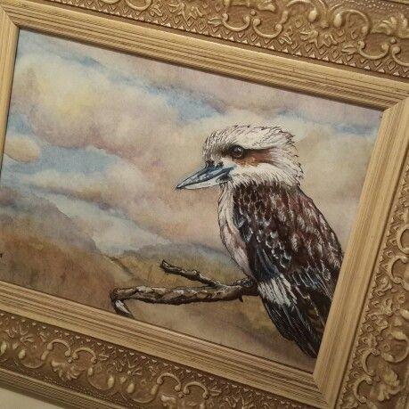 Kookaburra watercolour by Corinne Dany