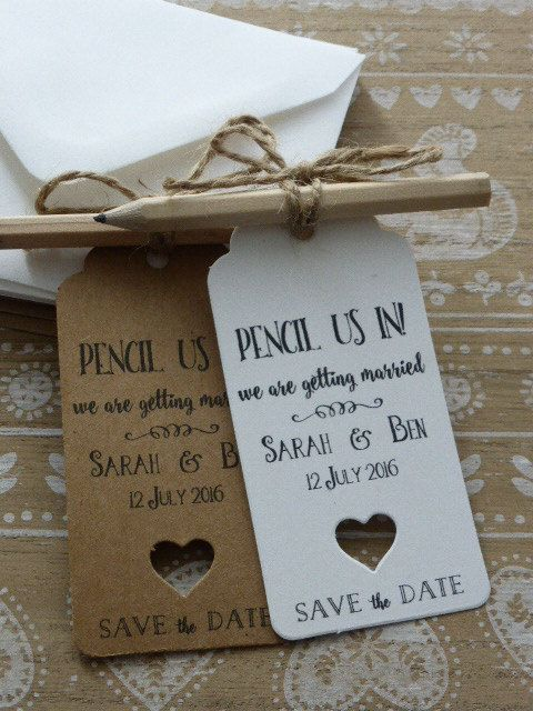 10 Save The Date / Evening Card Wedding by GREENFOXYtags on Etsy