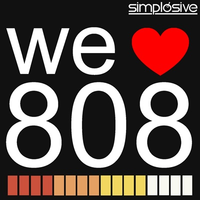 The love: 808 Simplosive, Drum Sounds, Simplosive Welove808 Png, 400 400, Music Production, 808 Drum