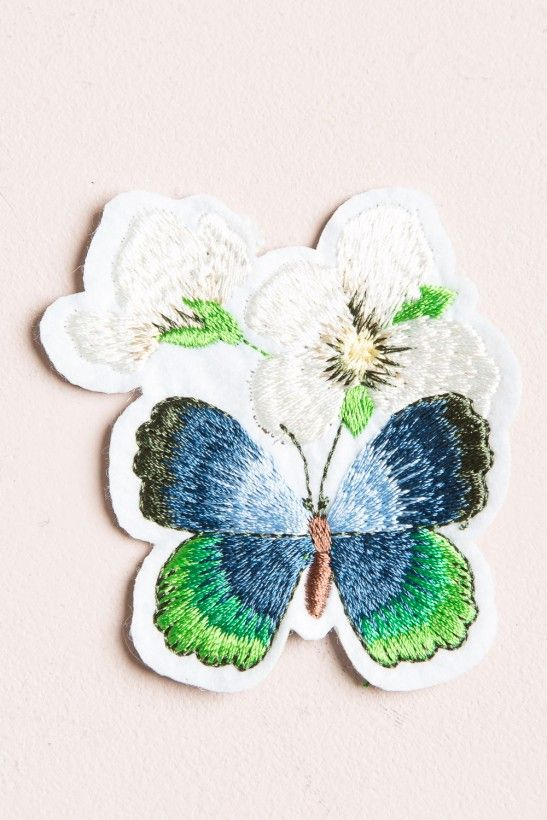 Butterfly and Flower Patch - Patches & Pins - Accessories