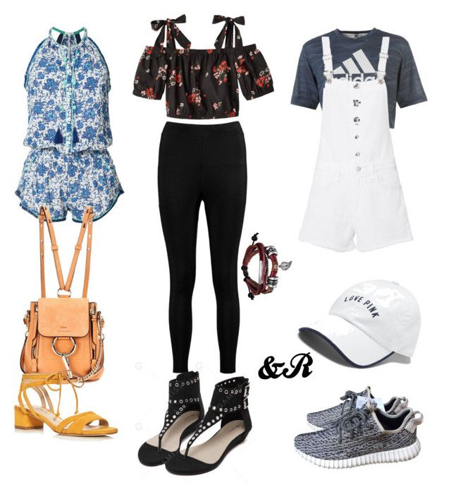 """""""Concert Looks #2"""" by stylebydnr on Polyvore featuring Poupette St Barth, adidas, Chloé, Via Spiga, Victoria's Secret, rag & bone, Boohoo and Bling Jewelry"""