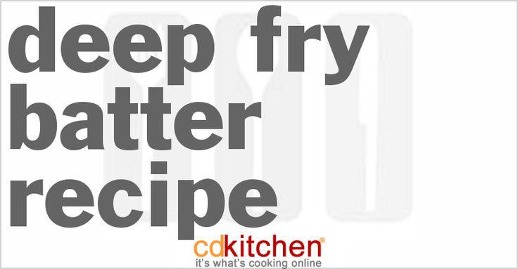 A 5-star recipe for Deep Fry Batter made with corn starch, flour, baking powder, salt, sugar, milk