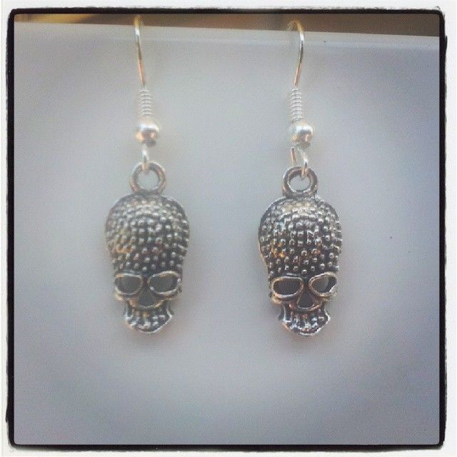 Silver Skull Earrings $5 Aust. From Rags To Bags on FaceBook.
