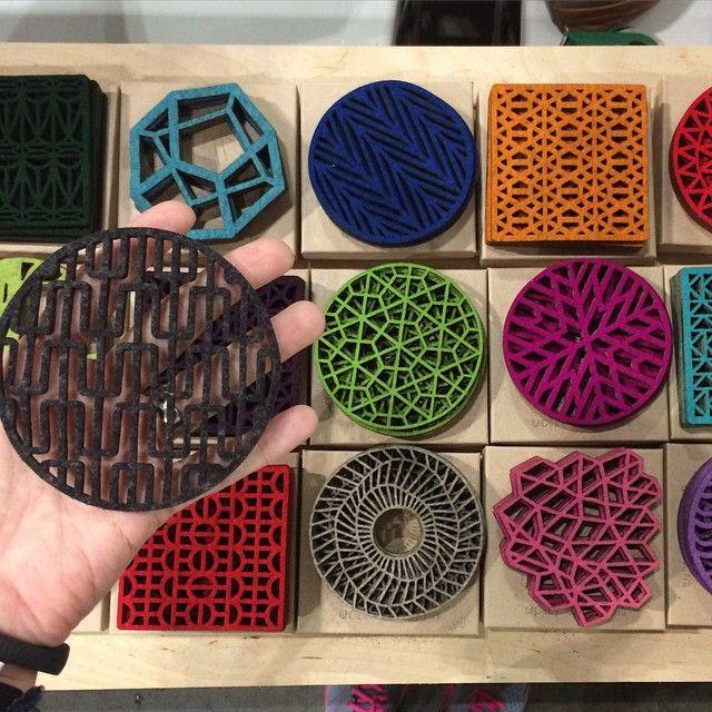 Great laser-cut felt coasters by @mollymdesigns  http://www.mollymdesigns.com/