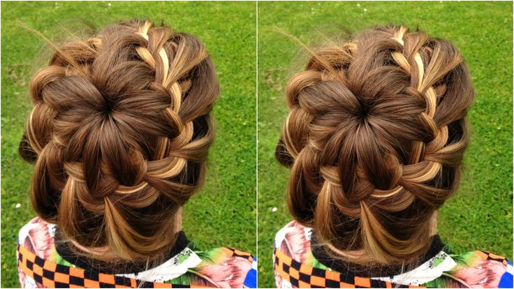 18 Creative And Unique Wedding Hairstyles For Long Hair: How To : DIY Starburst Braided Bun Hairstyle Tutorial