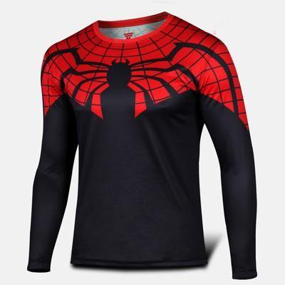 Spiderman Marvel Comics Sport  fitness gym T shirt for Men - Decal Design