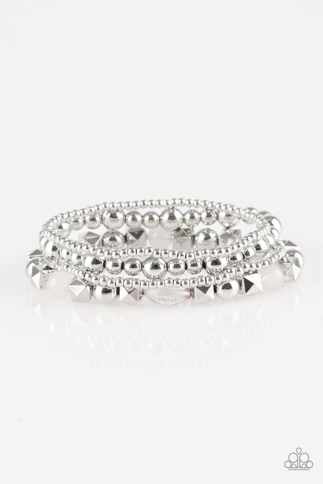 Silver Beaded Wrap Bracelet Shiny And Cute Only 5 Shop Now