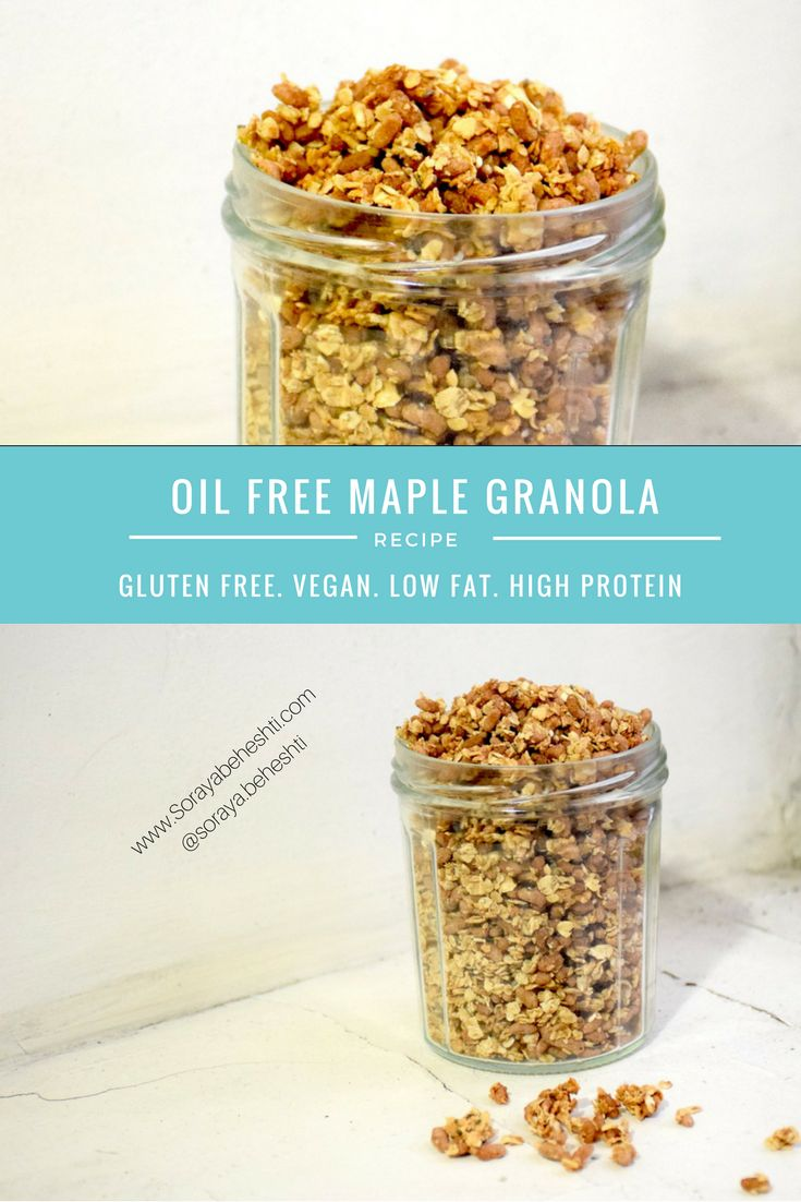 oil free maple granola date homemade