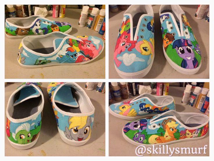My Little Pony custom shoes. Includes Pinkie Pie, Fluttershy, Wonderbolts, Derpy, Tank, Rainbow Dash, Twilight Sparkle, Spike, Apple Jack, Cutiemark crusaders, Big Macintosh, Granny Smith, Dr. Whooves, Rarity and Cheese sandwich