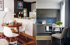 Круглый стол на кухне в современном стиле