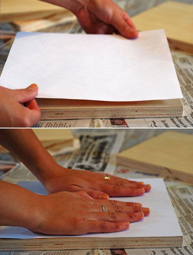 DIY transférer ses photos sur du bois colle et papier