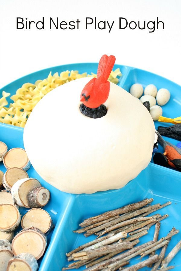 Spring play dough :: Bird Nest Play Dough :: bird theme activities