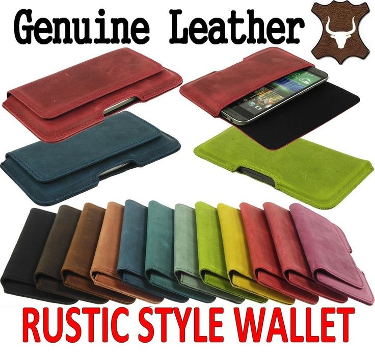 WALLET MADE OF GENUINE LEATHER IN A RUSTIC STYLE FOR MOBILES - RANGE OF MODELS #Amadi