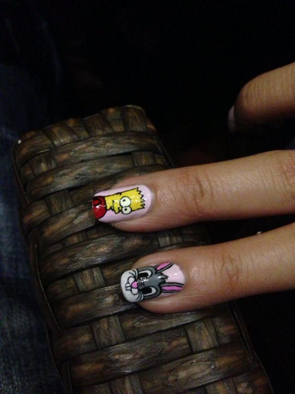 Bart Simpson and bugs bunny